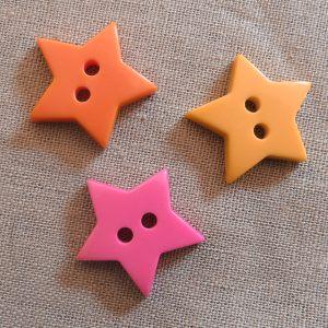 Halv blank knapp - Stjerne