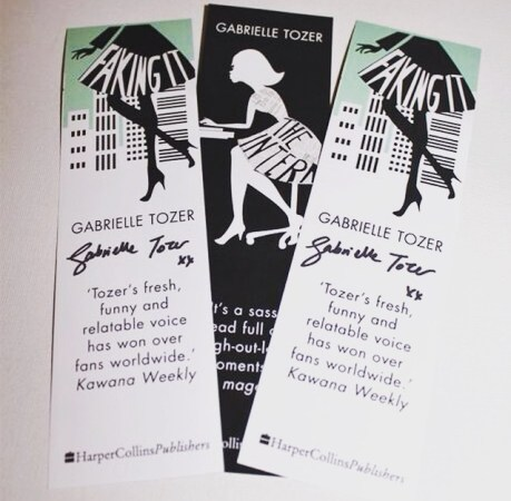 Signed bookmarks that I won on instagram from Gabrielle Tozer...She is one of the sweetest people ever!