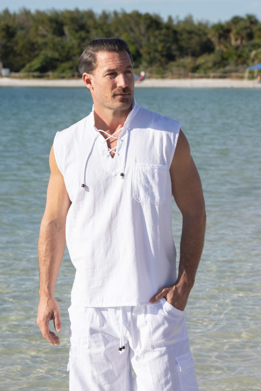 Mykonos Sleeveless Shirt