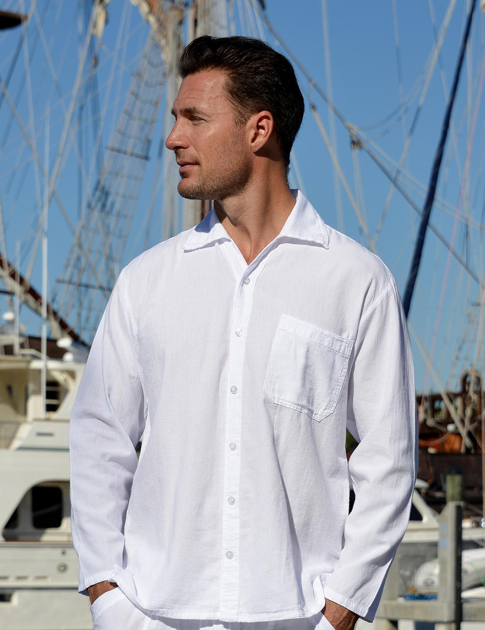 Las Palmas – Long Sleeve Button Down Short Sleeve Shirt