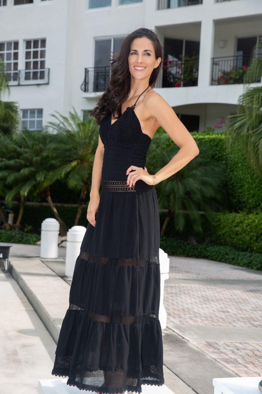 Hampton Black Line Dress
