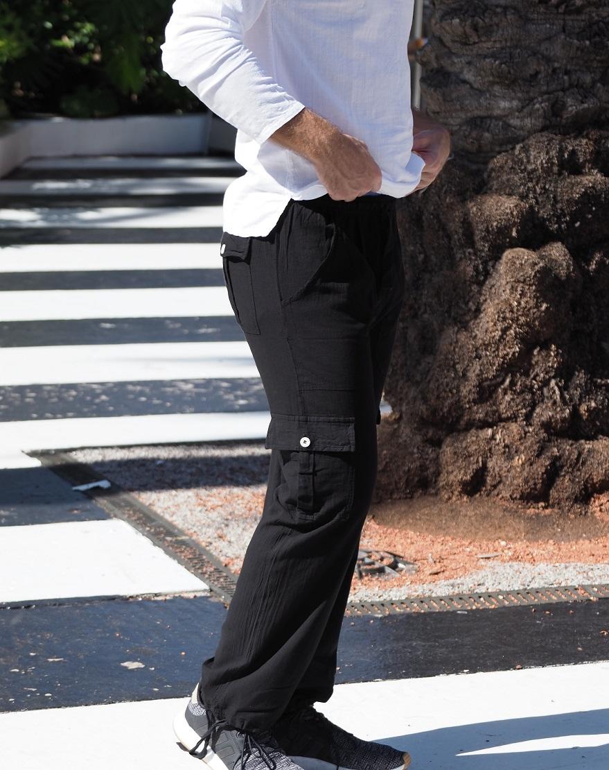 St. Vincent Black Line Pants