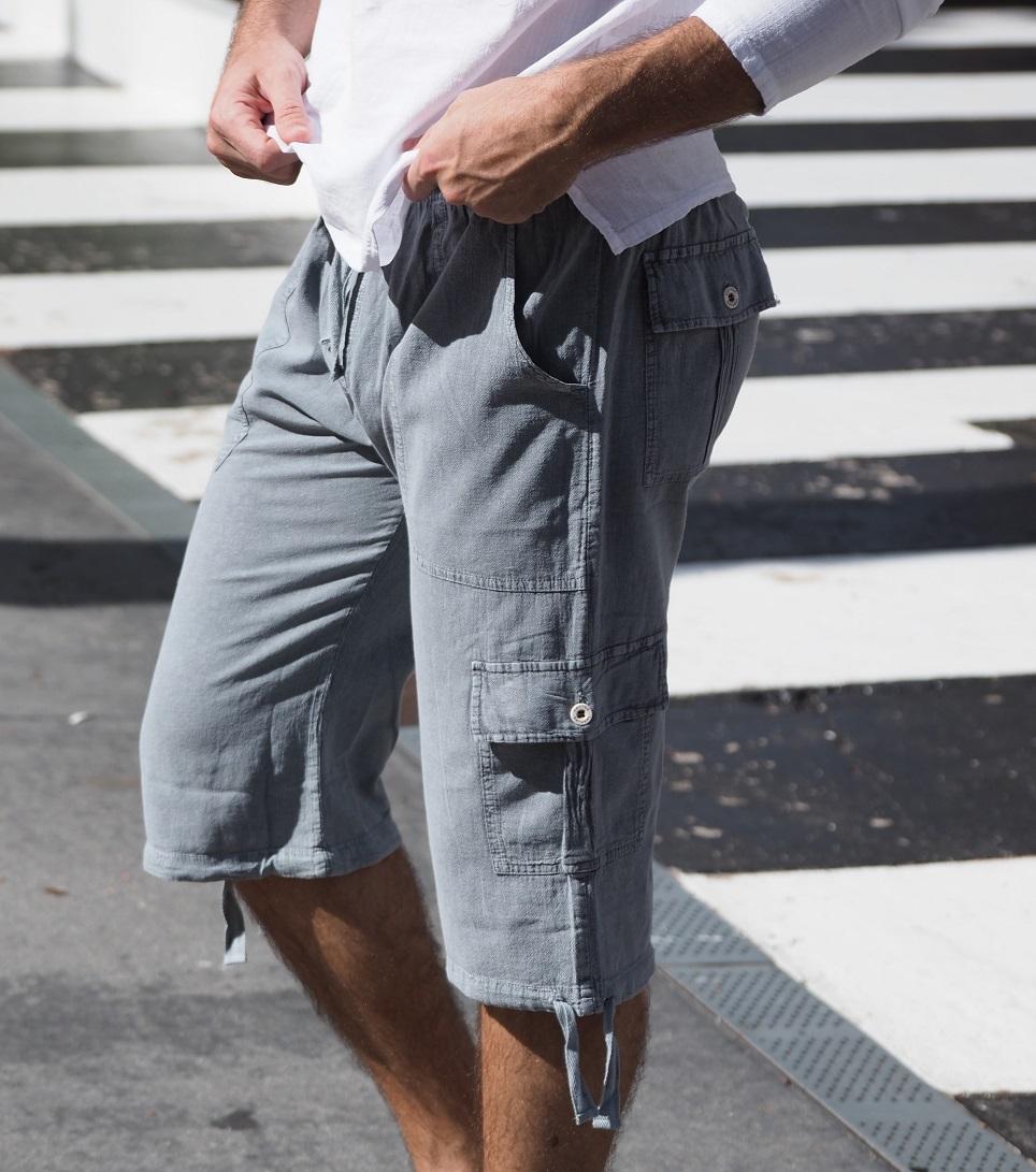 St. John Fossil Gray Shorts