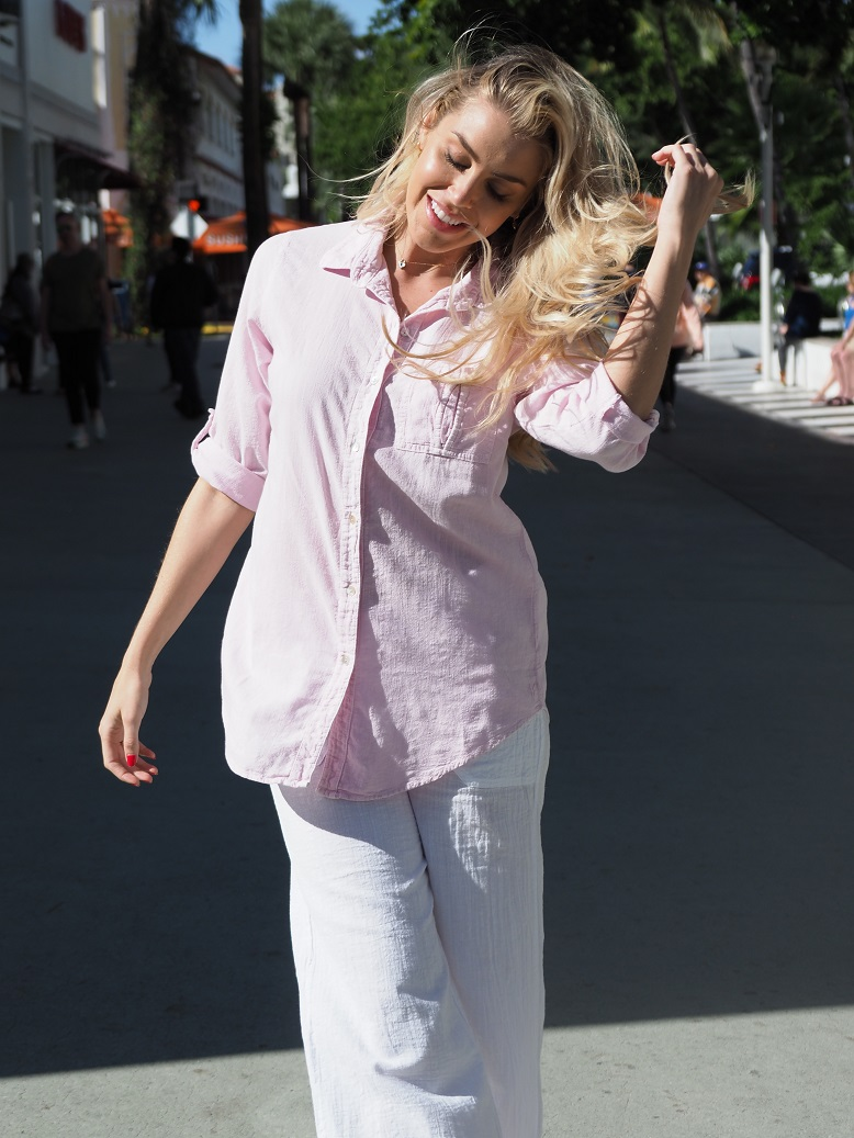 Kate Pink Flamingo Shirt
