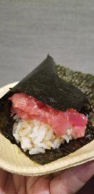 Tuna hand roll from Riviera Seafood Club