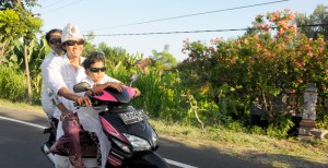 Scooter with driver Bali