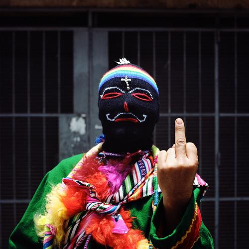 L'homme cagoule, Lima, Pèrou, 2011