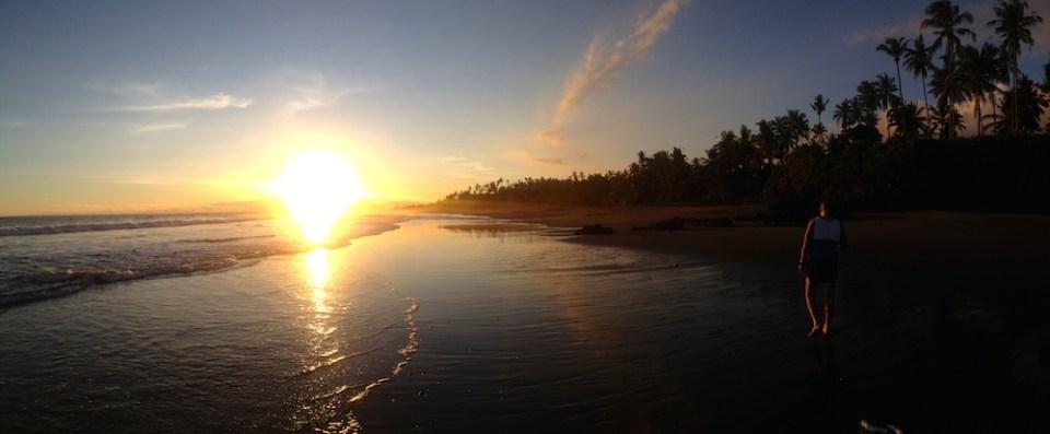 Coucher de soleil à Balian