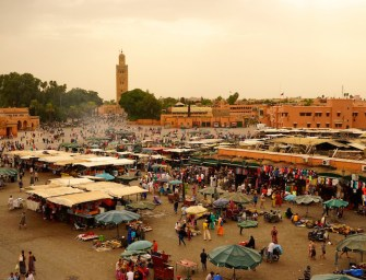 La belle et chaude Marrakech