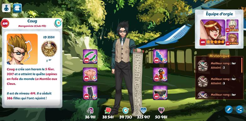 Profil Coug Hentai Heroes