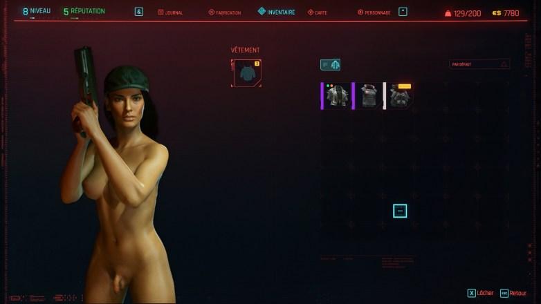 V nue dans Cyberpunk 2077 01