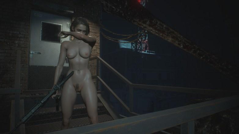 Jill Valentine nue dans Resident Evil 3 Remake 076
