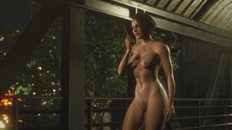 Jill Valentine nue dans Resident Evil 3 Remake 108