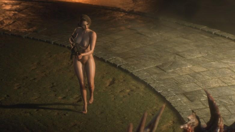 Jill Valentine nue dans Resident Evil 3 Remake 115