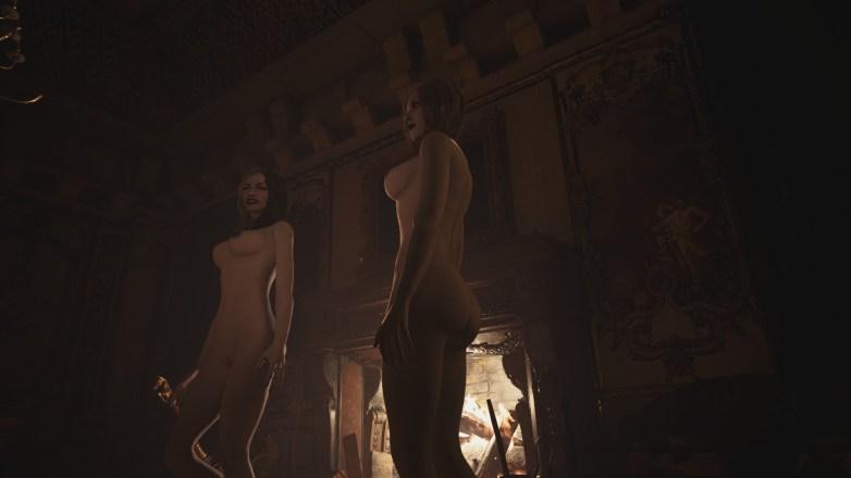 Les filles Dimitrescu nues dans RE 8 05