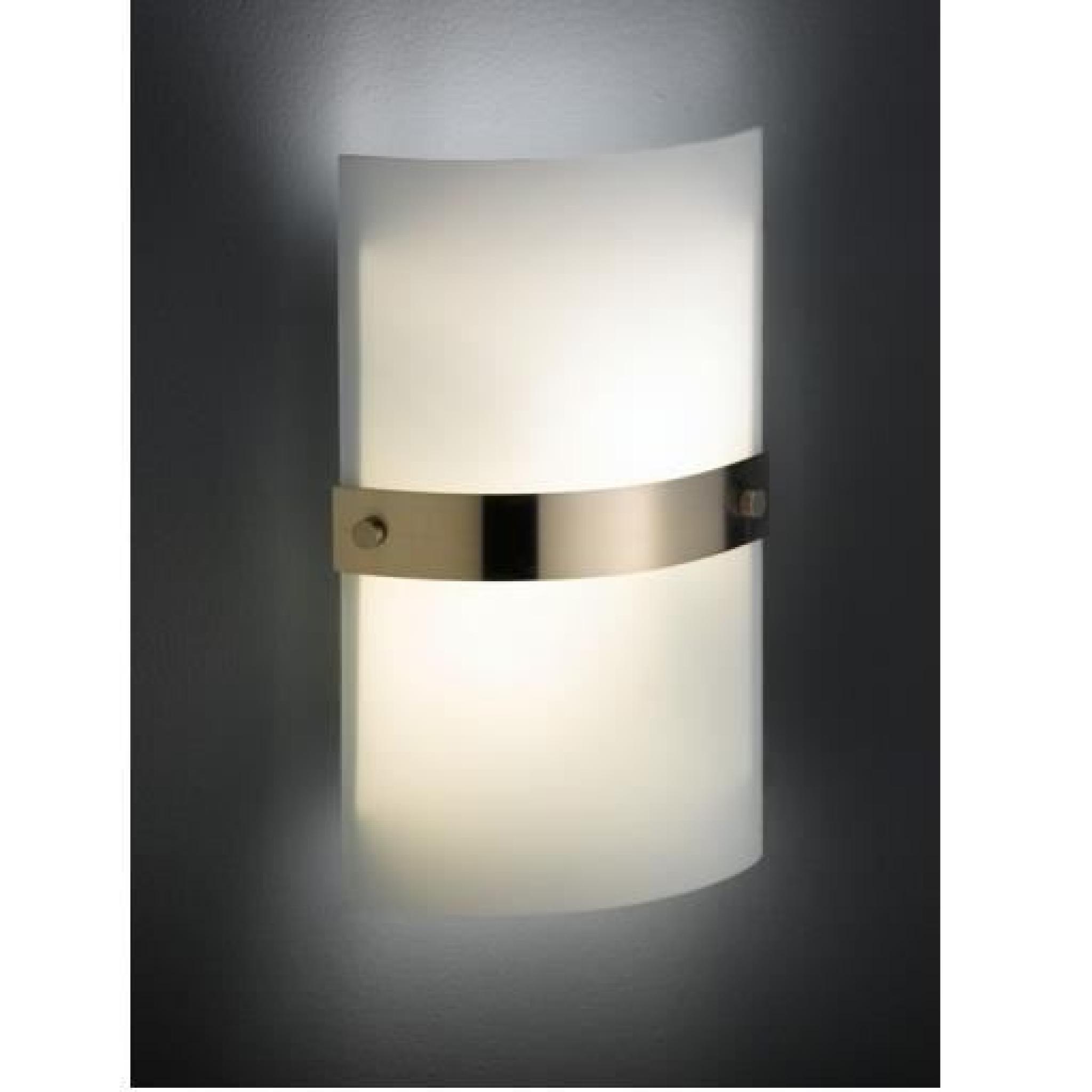 Applique Murale 2 Lampes En Verre Opale Blanc Achat