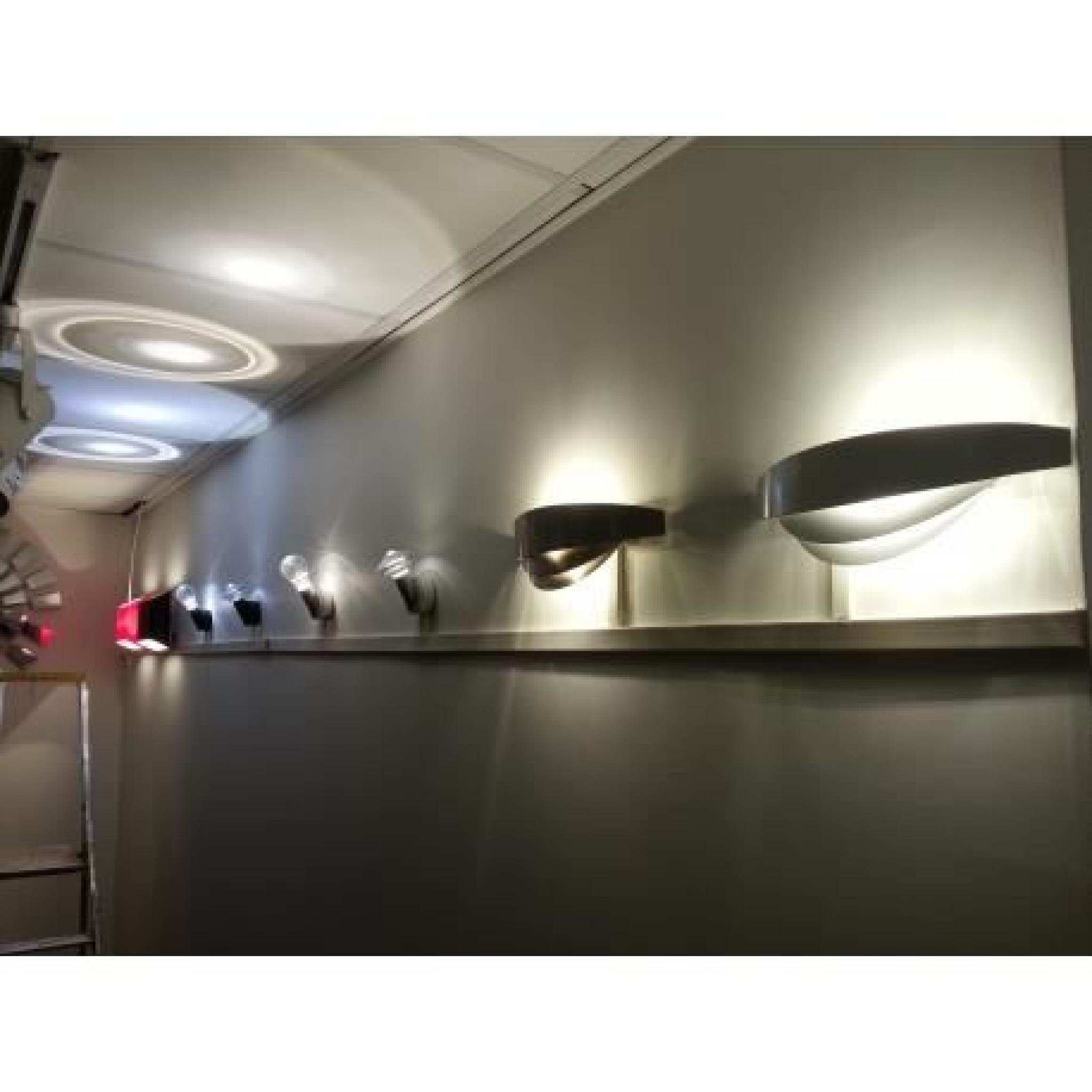 applique murale led dublin noir achat vente applique murale pas cher couleur et design fr
