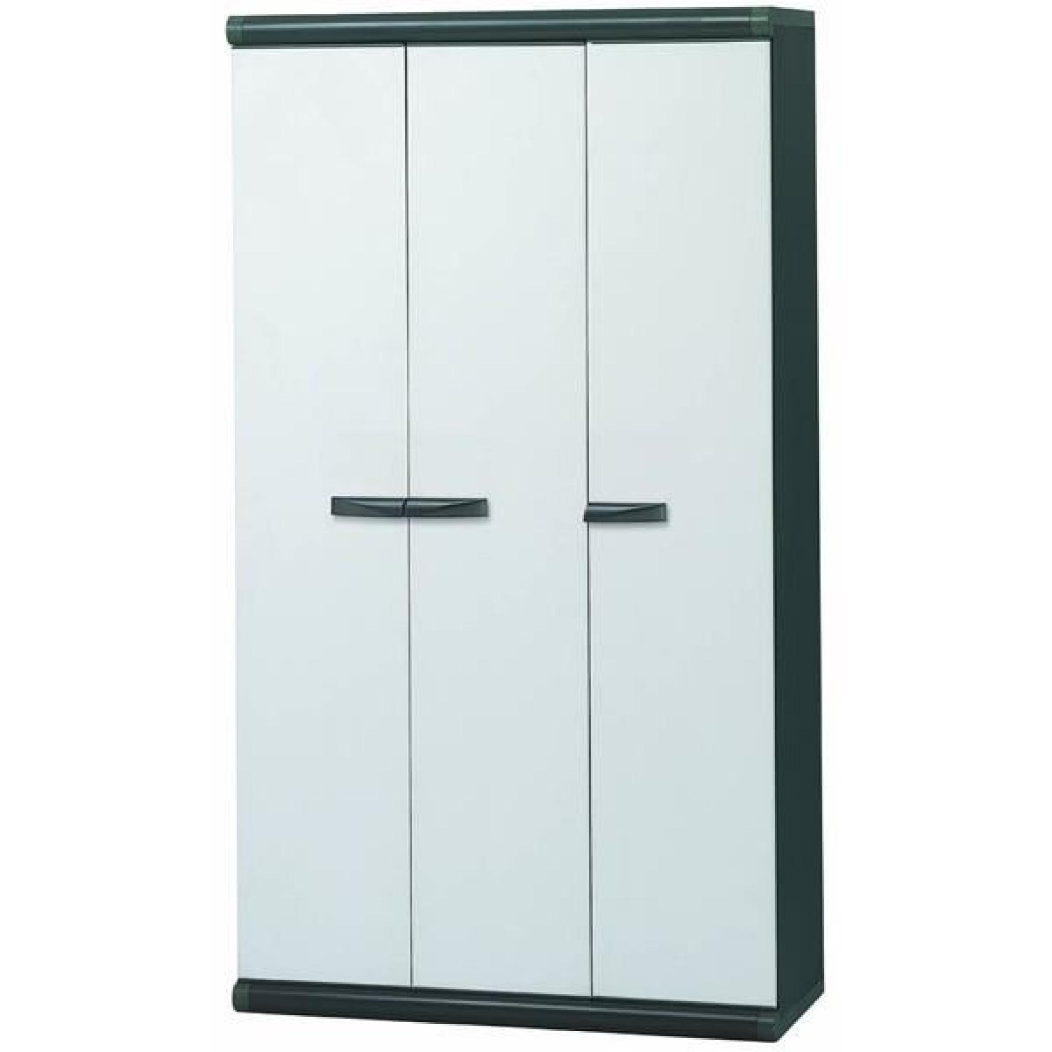 armoire haute en resine 3 portes achat vente armoire de chambre pas cher couleur et design fr