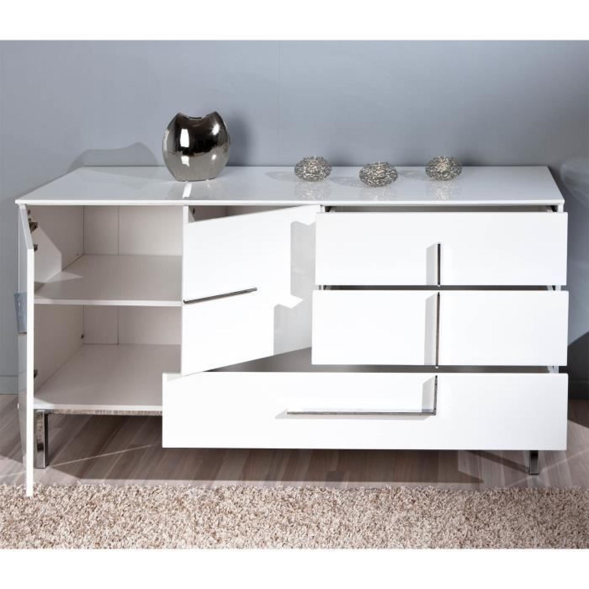 Commode Buffet Bahut Bas Moderne Design 2 Porte Achat Vente Commode Pas Cher Couleur Et Design Fr
