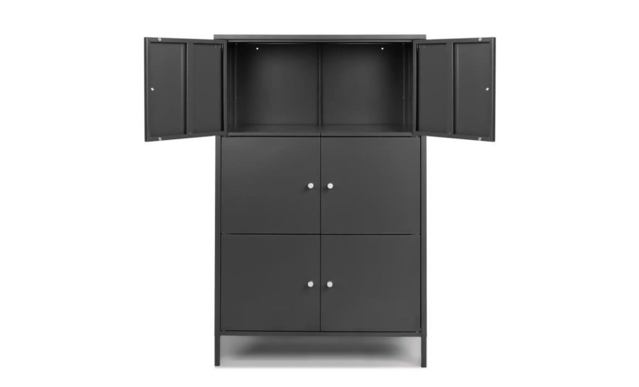 ikayaa 6 portes armoire de rangement en metal moderne armoires de rangement locker chambre salle de bains meubles achat vente armoire pas cher couleur et design fr