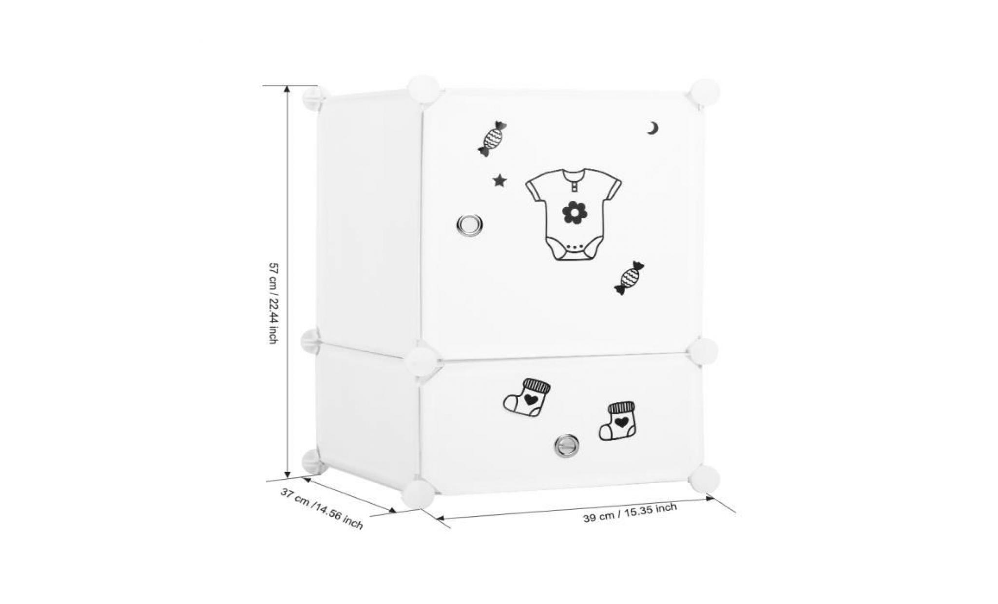 langria diy armoires etageres plastique meuble rangement chambre 6 2 cubes set de tables de nuit interlocking auto assemblage achat vente armoire pas cher couleur et design fr