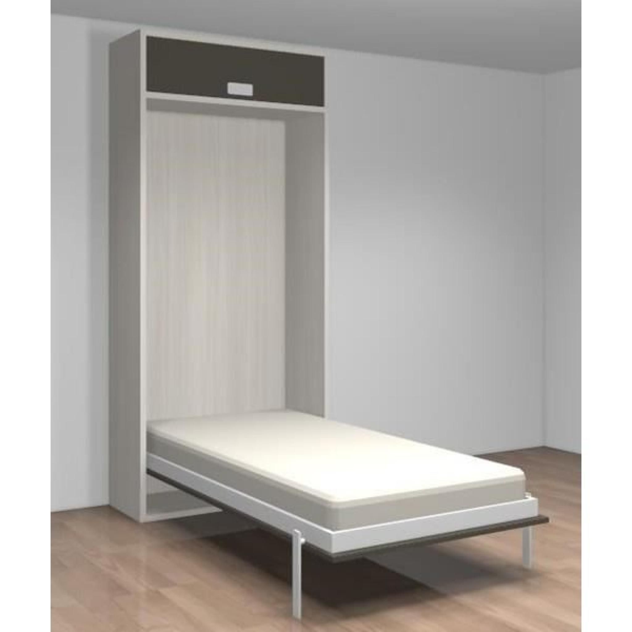 lit relevable avec tablette teo 90x190 blanc noir achat vente lit escamotable pas cher couleur et design fr