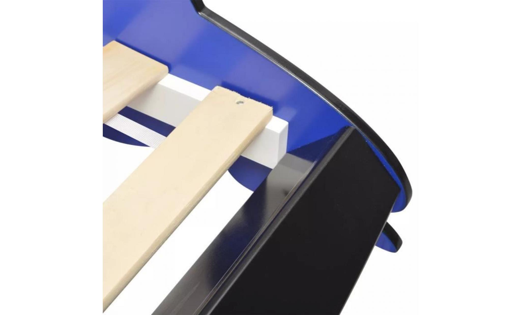 lit voiture de course lit enfant contemporain scandinave pour enfants 90 x 200 cm bleu lit adulte achat vente structure de lit pas cher couleur et design fr
