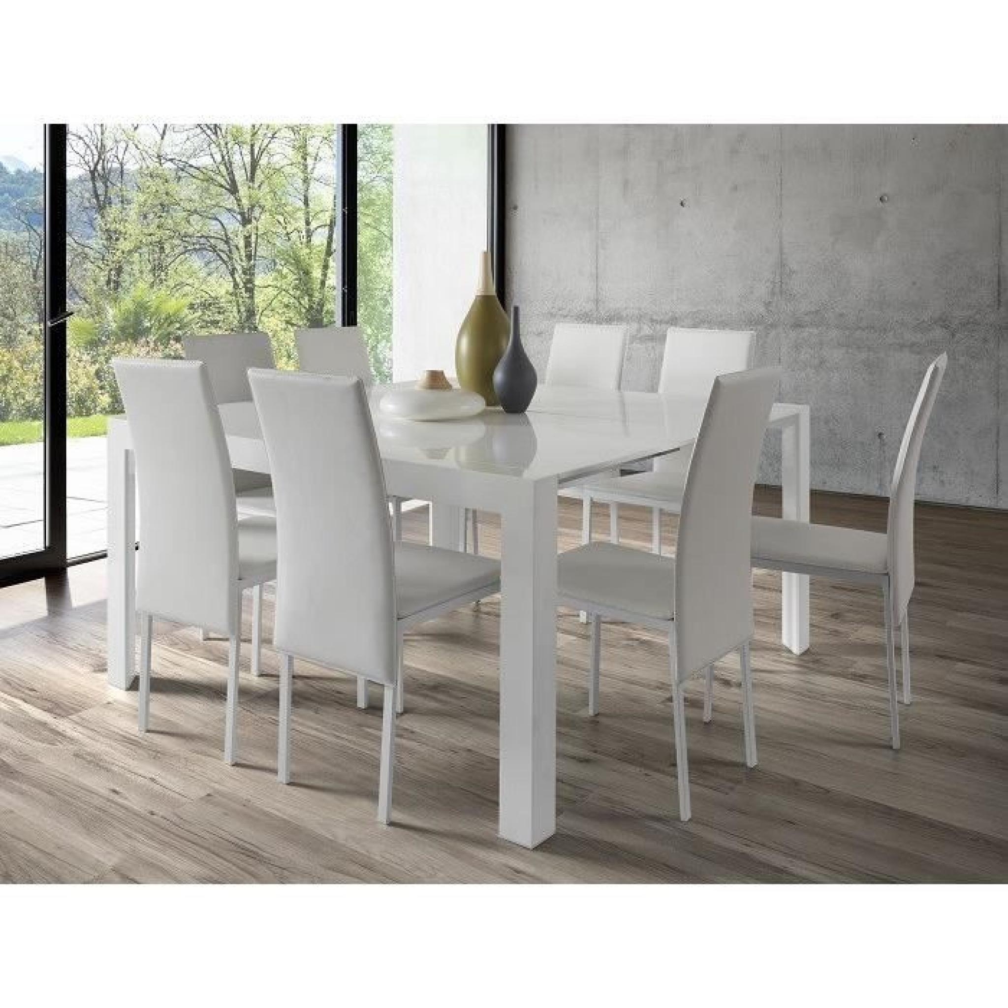 magik table a manger extensible 90 140x75 cm blanc achat vente table salle a manger pas cher couleur et design fr