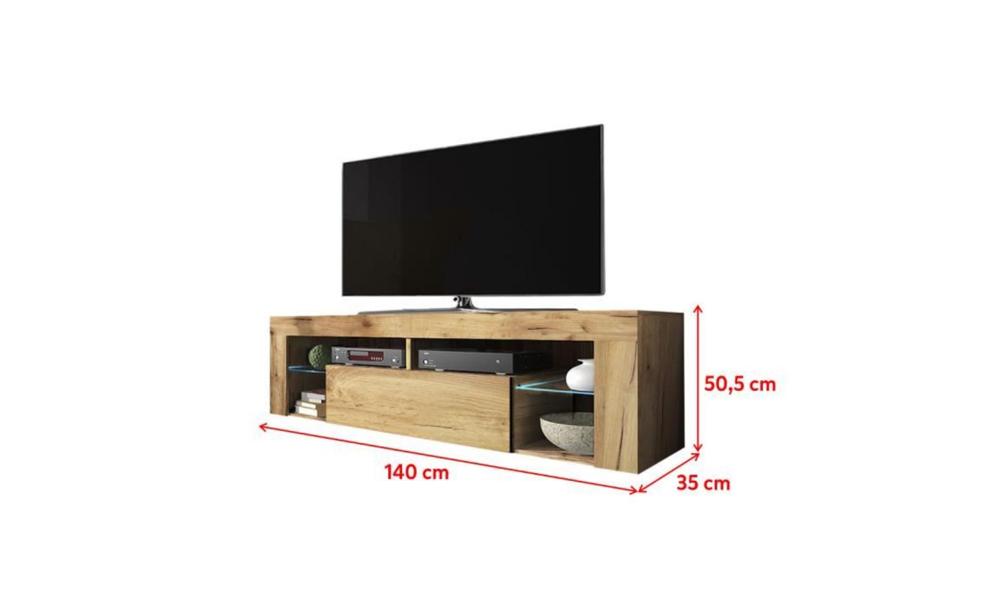 festnight meuble tv en bois massif tv cabinet meuble de television 120 x 30 x 36 cm avec 4 roulettes meubles de rangement