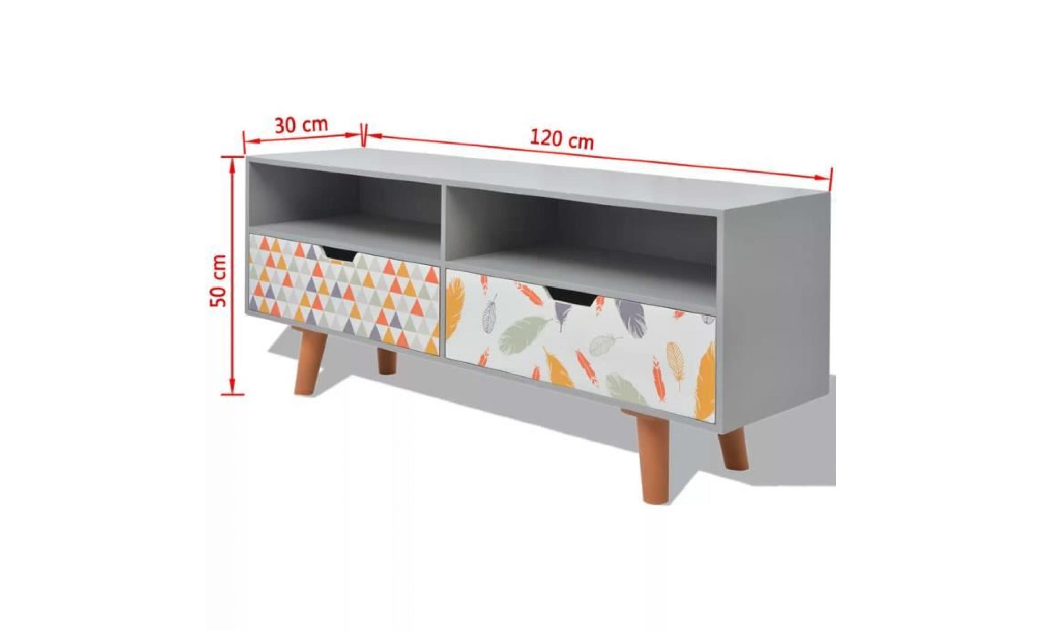 meuble tv meuble hifi meuble salon mdf 120 x 30 x 50 cm gris achat vente meuble tv pas cher couleur et design fr
