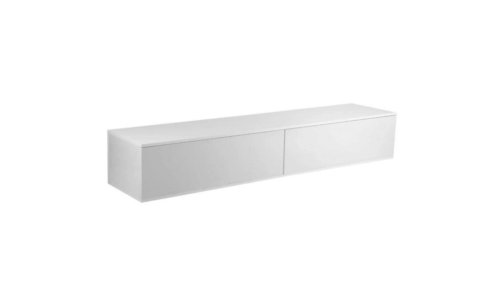 meuble tv style simple 182 40 30cm decoration de meuble blanc achat vente meuble tv pas cher couleur et design fr