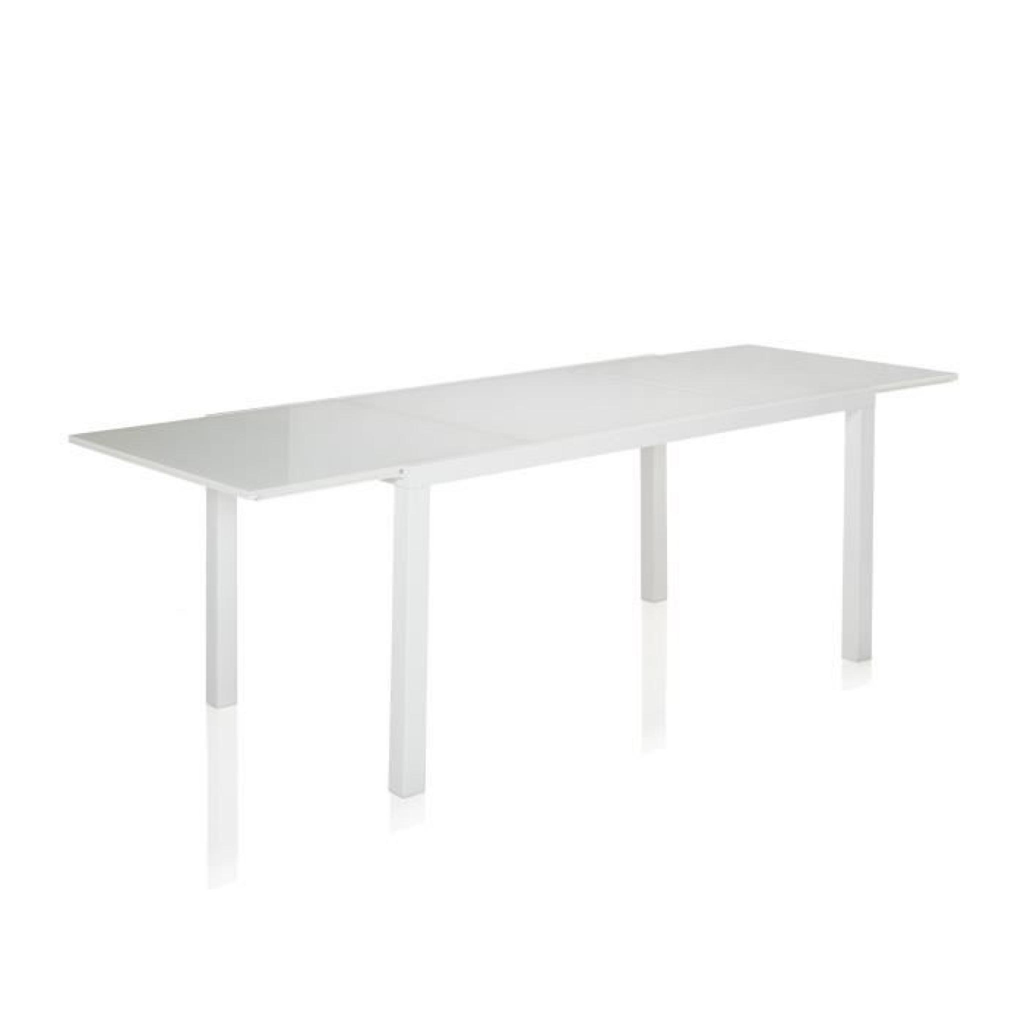 pure table en verre et acier avec allonge papillon 12 couverts achat vente table salle a manger pas cher couleur et design fr