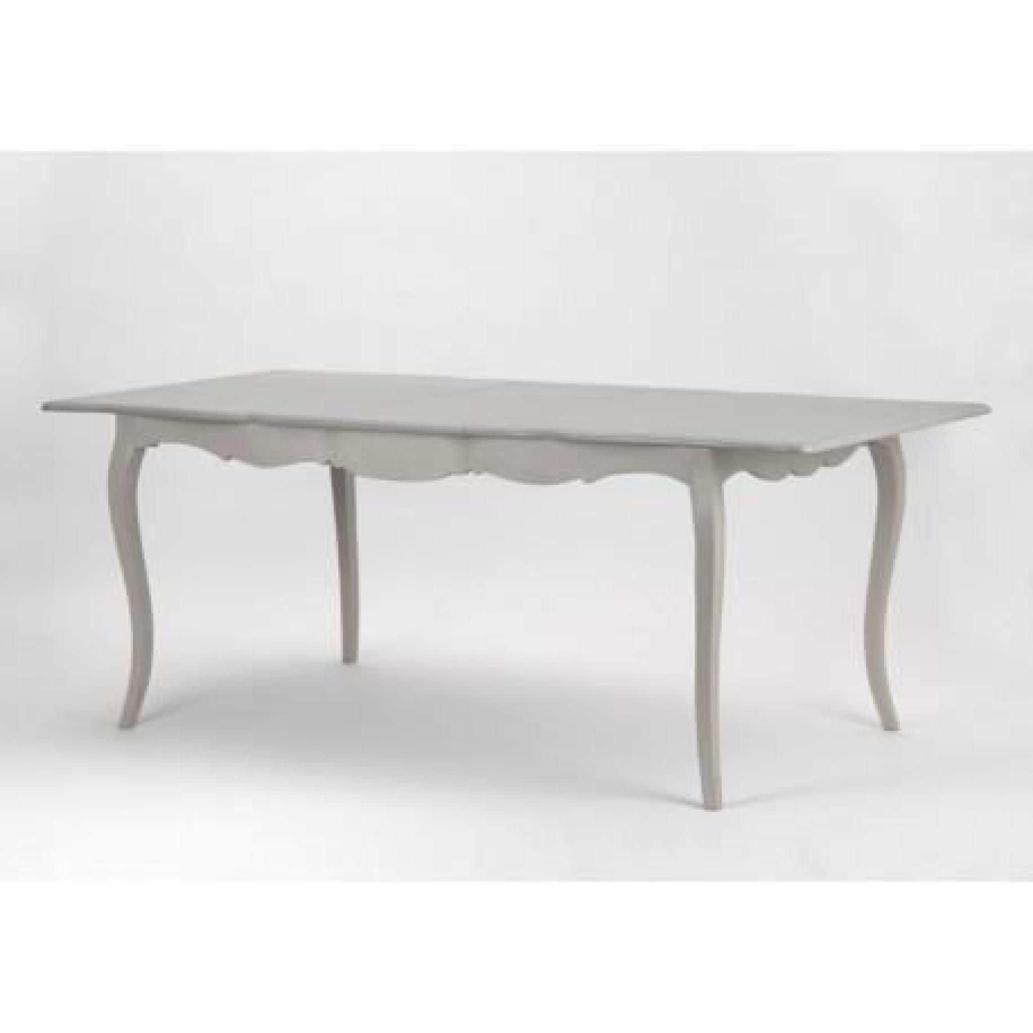 table a manger avec rallonge bois ceruse taupe grise grand siecle amadeus achat vente table salle a manger pas cher couleur et design fr