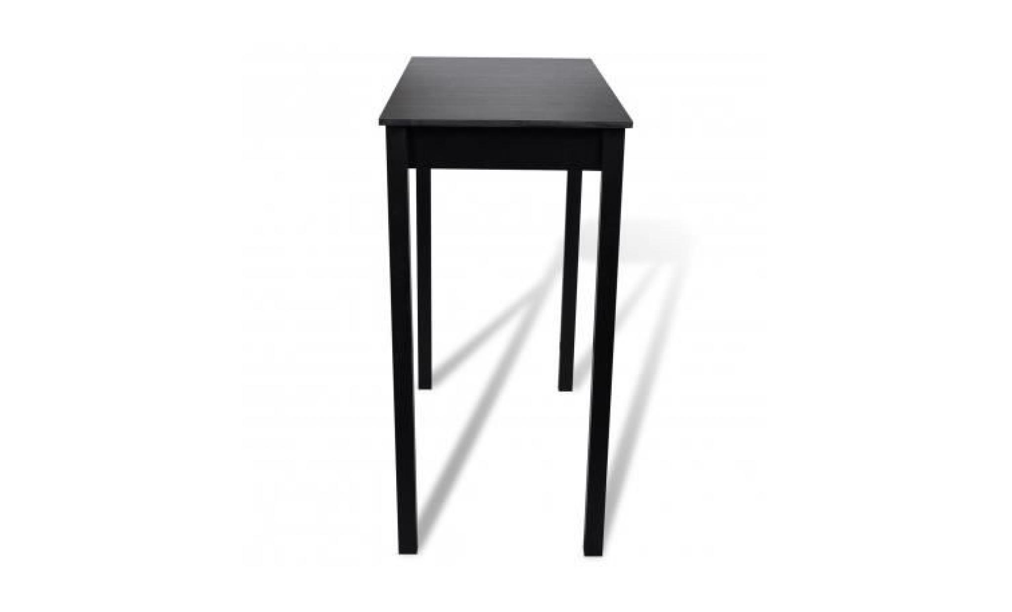 table bar table haute cuisine rectangulaire 115 x 55 x 10 cm achat vente table salle a manger pas cher couleur et design fr
