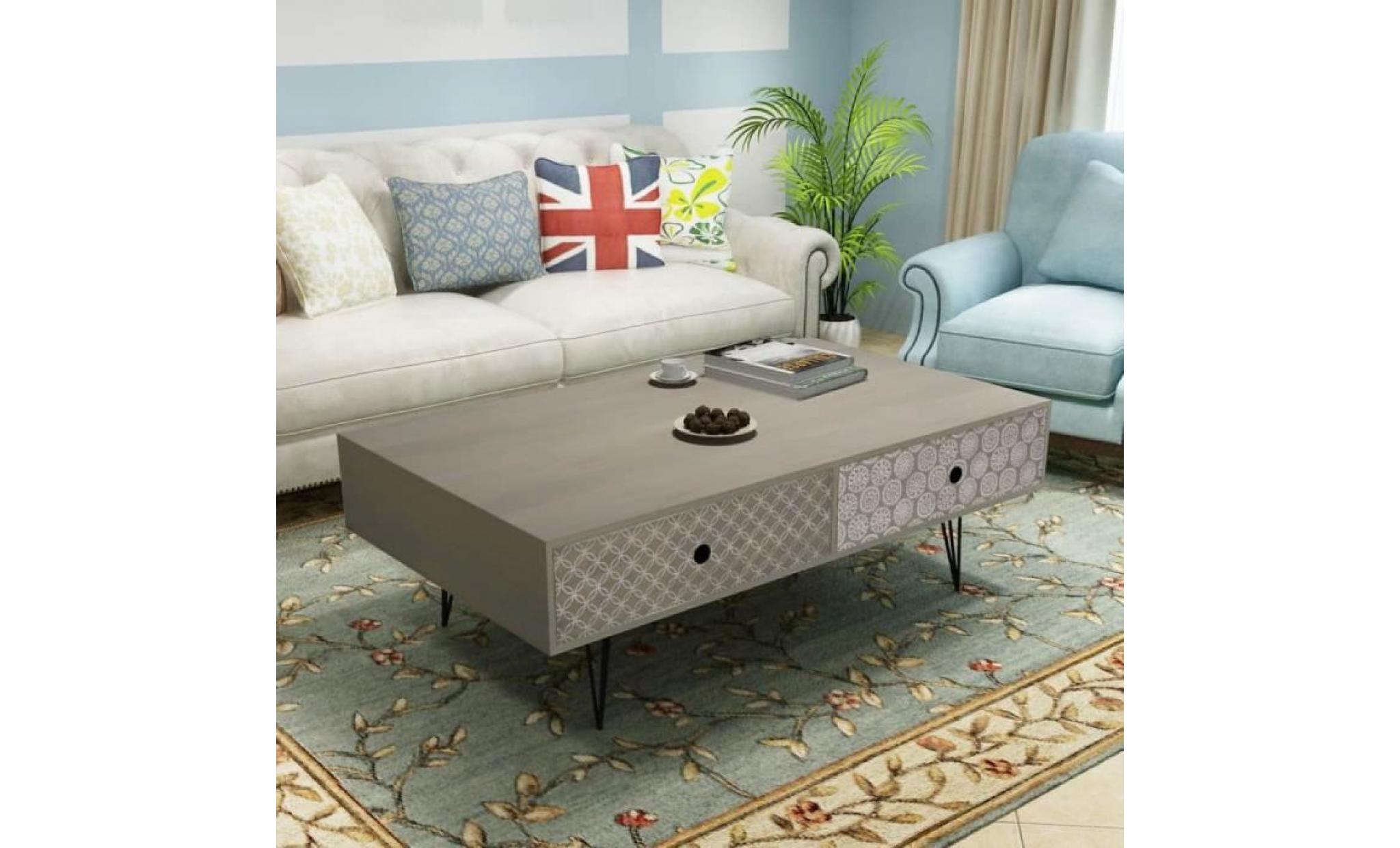table basse 100 x 60 x 35 cm gris achat vente table basse pas cher couleur et design fr