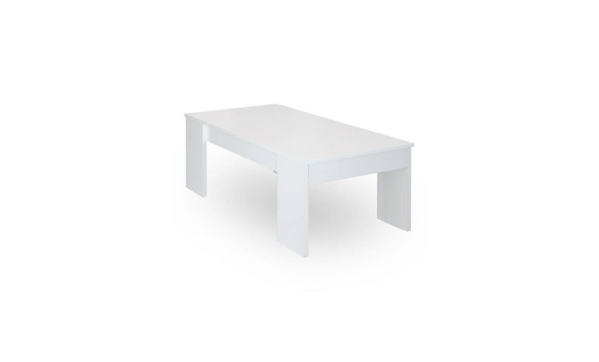 table basse blanche l120 x l60 cm plateau relevable avec rangement gotham achat vente table basse pas cher couleur et design fr