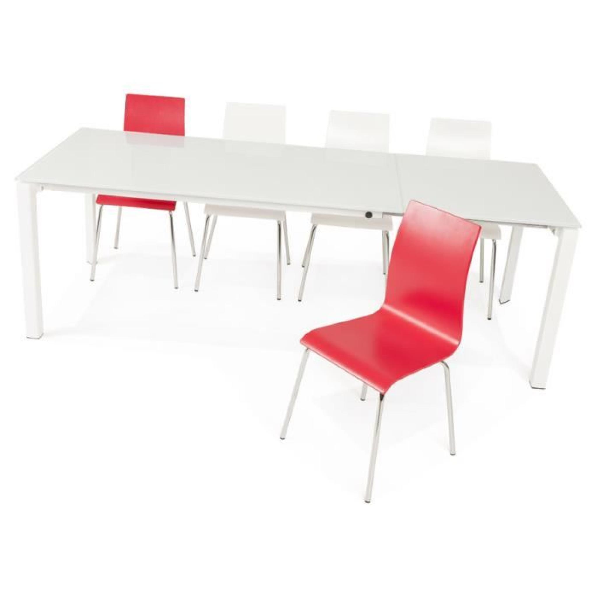 table de salle a manger extensible moderne ang achat vente table salle a manger pas cher couleur et design fr