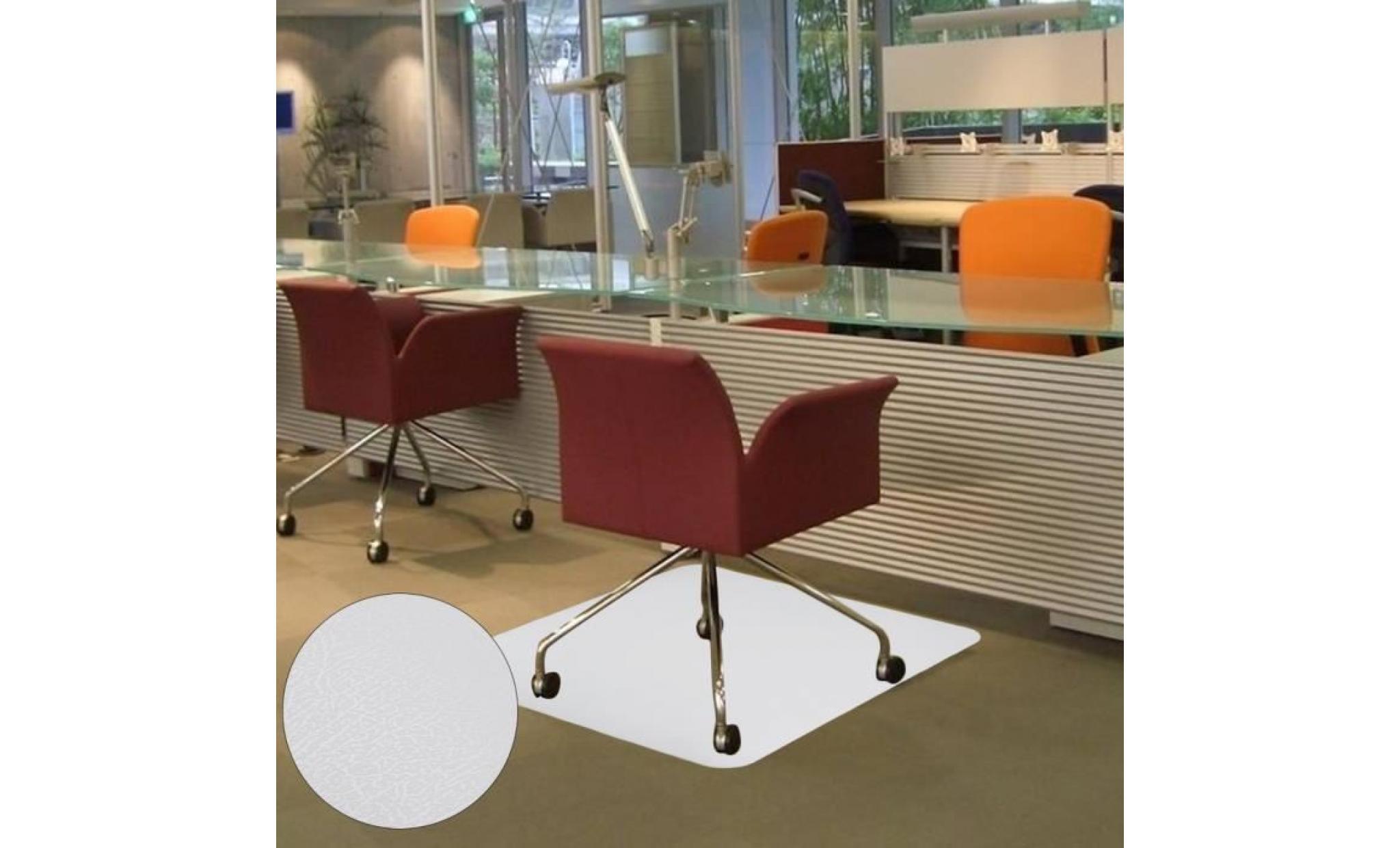 tapis de bureau tapis de protection sol pour chaise fauteuil siege de bureau transparent 90cm x 120 cm achat vente fauteuil de bureau pas cher couleur et design fr