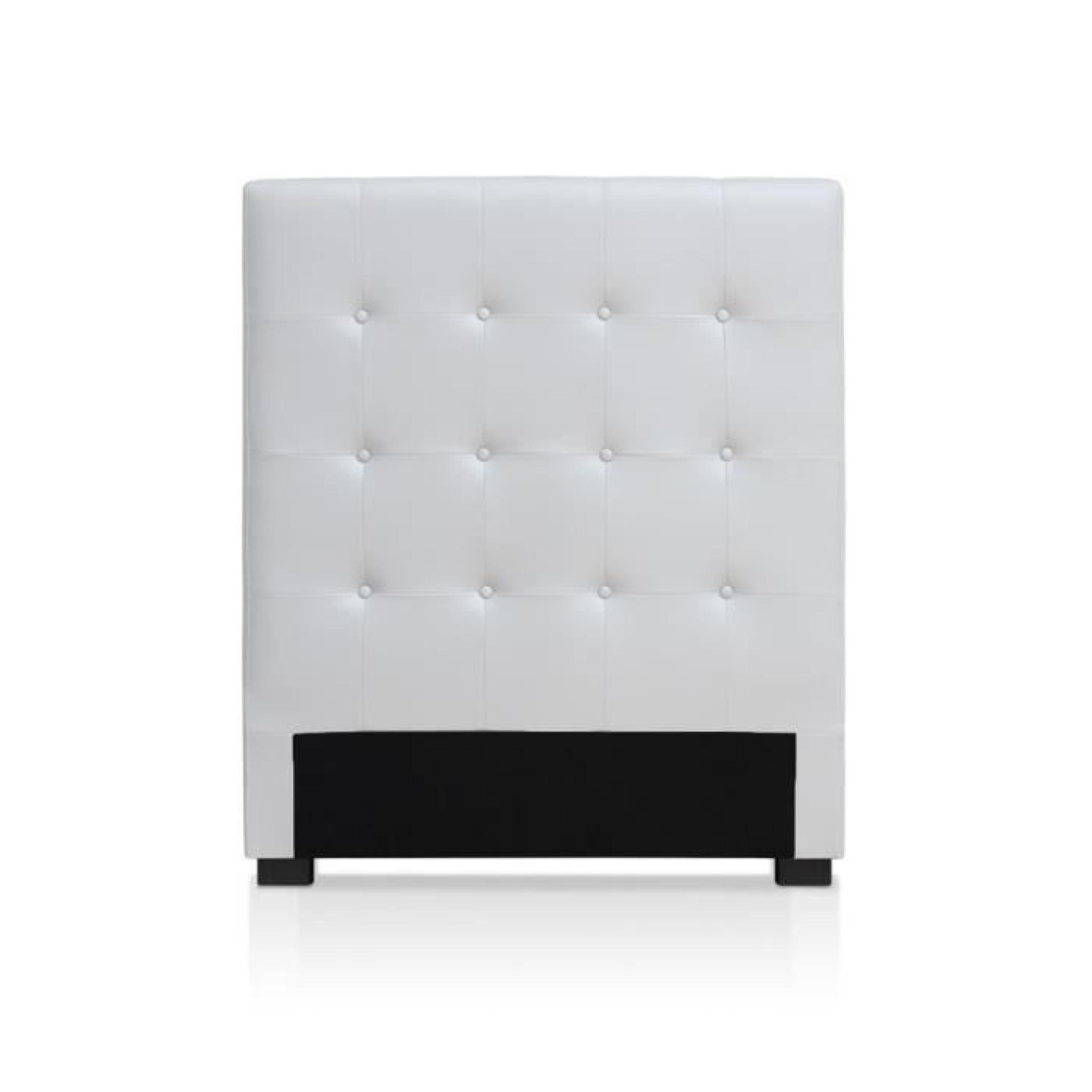tete de lit luxor 90cm blanc achat vente tete de lit pas cher couleur et design fr