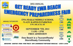 2013 Ewa Emergency Preparedness Fair Flyer