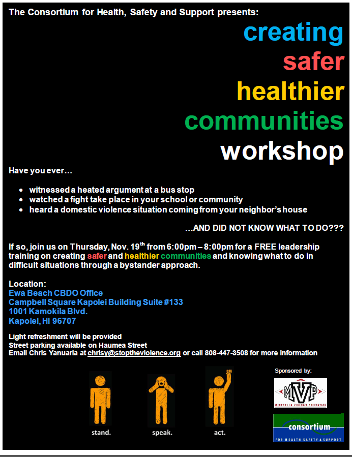 Creating safer communities workshop