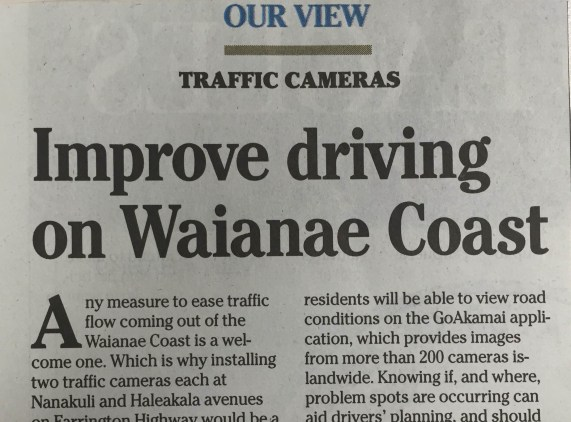 Improve Driving on Leeeward Coast