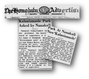 Nanakuli advertiser
