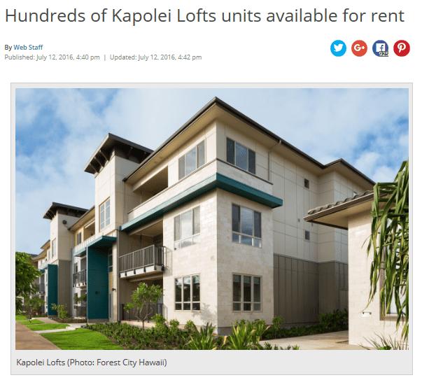 Kapolei lofts