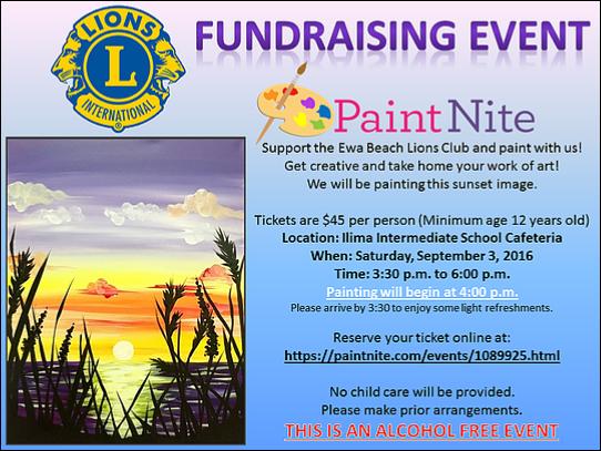 Ewa lions paint night