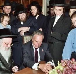 Mayor Bloomberg with his Rabbi