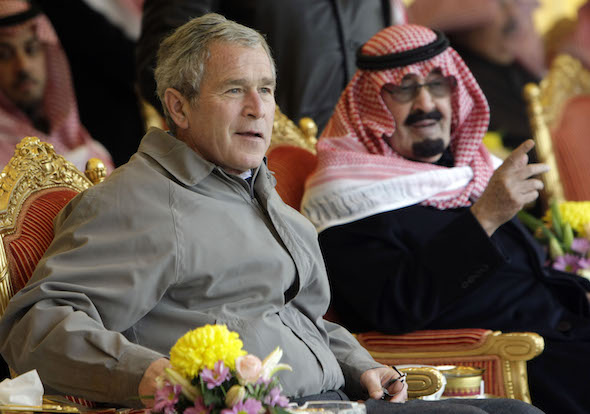 George W. Bush, King Abdullah