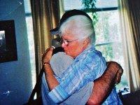Mickey and his mom share a hug. Photo credit: Mickey Z.