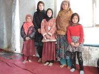 mothers and children inside a Kabul refugee camp Photo credit: Henrietta Cullinan