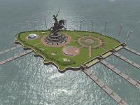 Concept plan of the Shivaji Memorial in Arabian Sea. courtesy: Maharashtra government.